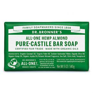 Dr Bronners Hemp Almond Soap 140g