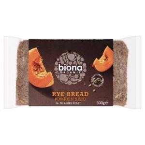Biona Rye and Pumpkin Bread 500g