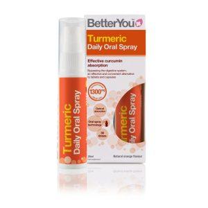 BetterYou turmeric daily oral spray 1300mg 25ml