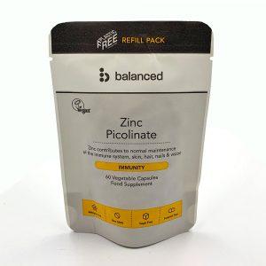 Balanced Zinc Picolate REFILL Pouch 60 Caps