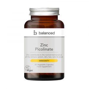 Balanced Zinc Picolinate 60 Caps Jar