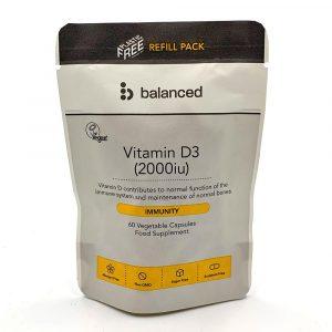 Balanced Vitamin D3 2000iu REFILL 60 Caps Bag