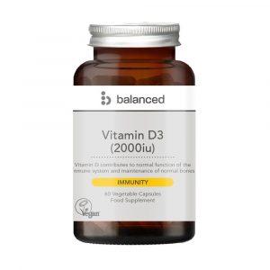 Balanced Vitamin D3 2000iu 60m Caps