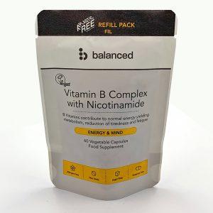 Balanced Vitamin B Complex Refill Pouch 60 Caps