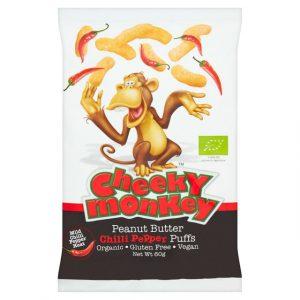 Cheeky Monkey Peanut Butter Chilli Puffs 60g